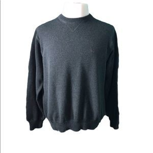Tommy Hilfiger Mens L Sweater Grey Cotton